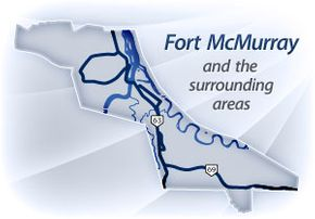 Fort McMurray and the surrounding areas
